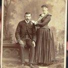 Antique Cabinet Card Photograph Couple
