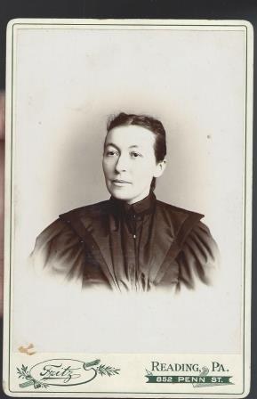 Antique Cabinet Card Photograph Woman Reading Penn
