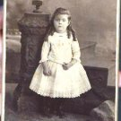 Antique Cabinet Card Photograph Young Girl
