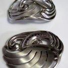 Vintage Silver Tone Scarf Clip Holder