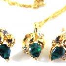 Sparkling Emerald Green Necklace Set
