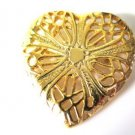 Lacey Gold Tone Heart Pin