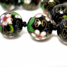 Vintage Hand Painted Necklace