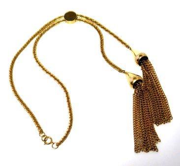 Sliding Bolo Type Flat Snake Necklace