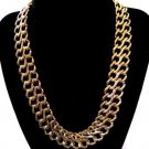 Vintage Gold Tone Link Chain Necklace