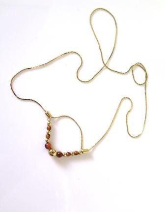 Slip Chain Beaded Necklace