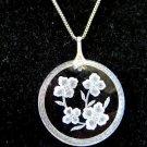 Intaglio Flower Pendant Necklace