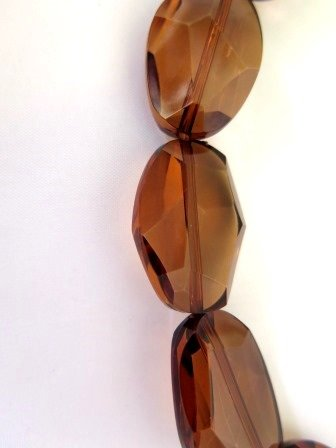 Vintage Acrylic Beads Root Beer Color