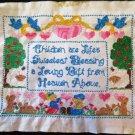 Vintage Children Embroidered Sampler