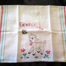 Vintage Gentle as a Lamb Kitchen Towel Embroidered
