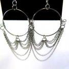 Fabulous Hoop and Chain Earrings