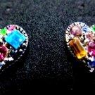 Kaleidoscope of Color Heart Earrings Post