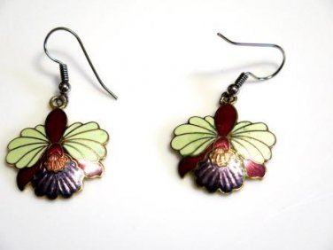 Cloisonné Earrings French Wires