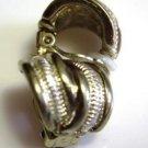 Silver Tone Clip On Earrings