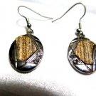 Silver Tone Weave Drop Earrings