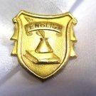 School Staff English Gold Tone Pin