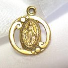 Vintage Gold Religious Charm Virgin Mary