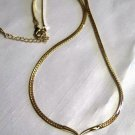 Center Drop Gold Tone Necklace