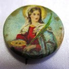 Mother Mary Vintage Pin Back Button