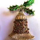 Tancer II Christmas Bell Holly Brooch