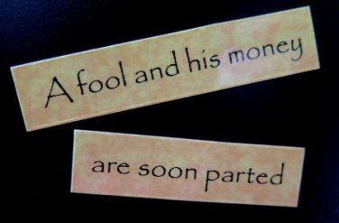 A Fool and His Money Are Soon Parted Magnet