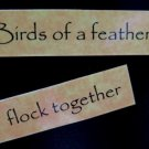 Birds of a Feather Flock Together Magnet