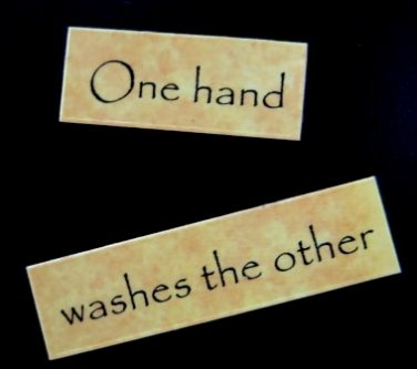 One Hand Washes the Other Magnet