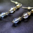 Blue Bead Fashion Earrings French Wire