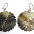 Mother of Pearl Disk Pierced Earrings