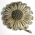 Sarah Coventry Sunflower Brooch Pin Large