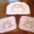 Antimacassars Chair Arm Back Covers Embroidered