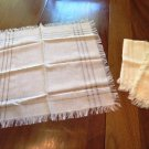 Fringed Table Toppers Napkins Very Fine Set of 3