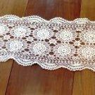 Vintage Crochet Table Runner Cream