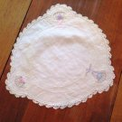 Vintage Small Table Topper Embroidered