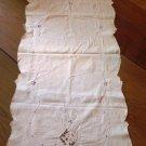 Vintage Cutwork Table Runner Dresser Scarf