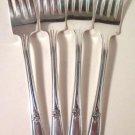 International Rogers Memory Hiawatha Salad Forks Set of 4 Silverware 1937