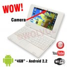 CAMERA Version WHITE 7inch Android Laptop Installed WiFi 4gb/256mb (Pouch Case, Charger, Mouse)