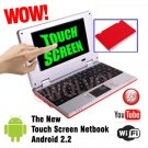 TOUCH SCREEN Red 7inch Android Laptop Installed WiFi 4gb/256mb (Pouch Case, Charger, Mouse)