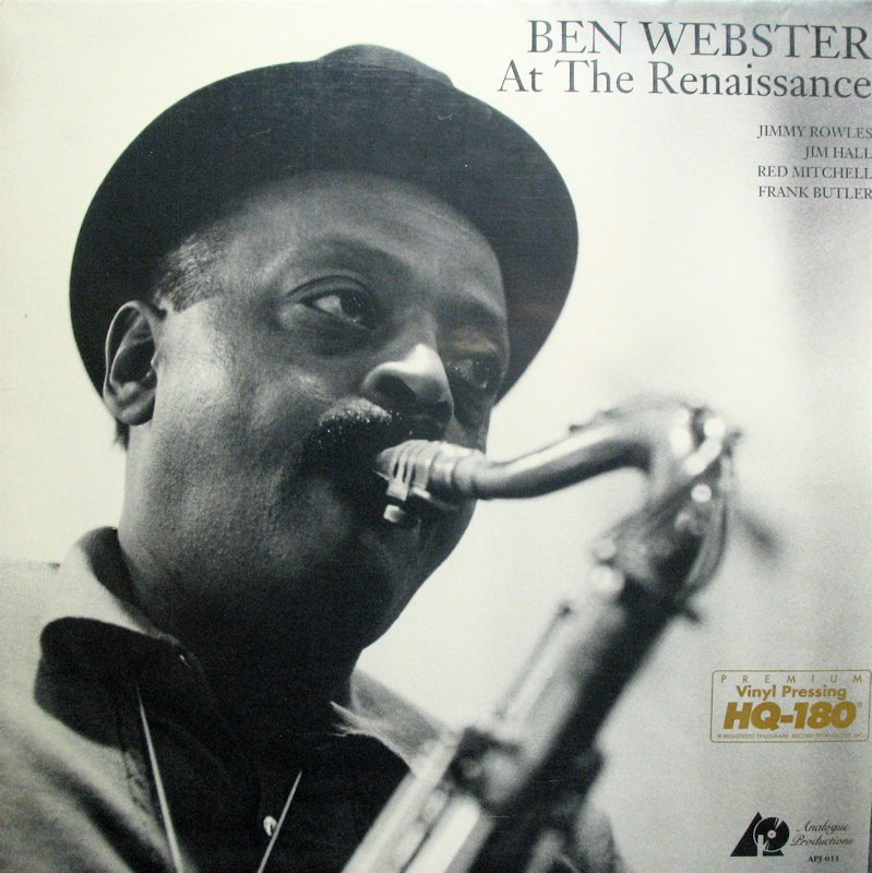 BEN WEBSTER At The Renaissance ANALOGUE PROD Audiophile NM/NM