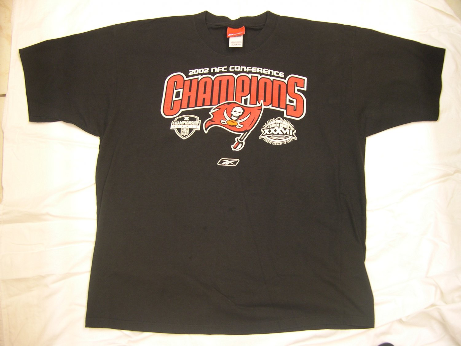 Nfl tampa bay buccaneers 2002 nfc championship super bowl for Tampa t shirt printing