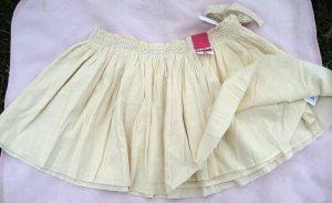 Old Navy pale Cream boho Skirt NEW Sz 12