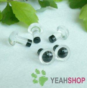 6mm Clear Safety Eyes / Plastic Eyes / Animal Eyes - 5 Pairs