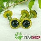 12mm Grass Green Safety Eyes / Plastic Eyes / Animal Eyes - 5 Pairs