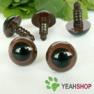 12mm Brown Safety Eyes / Plastic Eyes / Animal Eyes - 5 Pairs