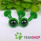 12mm Green Safety Eyes / Plastic Eyes / Animal Eyes - 5 Pairs
