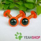 12mm Orange Safety Eyes / Plastic Eyes / Animal Eyes - 5 Pairs