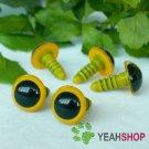 12mm Yellow Safety Eyes / Plastic Eyes / Animal Eyes - 5 Pairs
