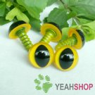 12mm Yellow Safety Eyes for Cat / Plastic Eyes / Animal Eyes - 5 Pairs