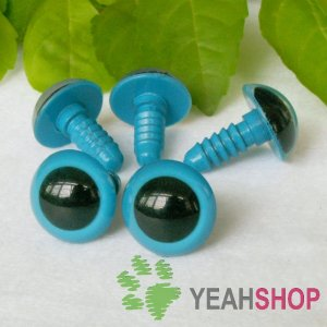 15mm Blue Safety Eyes / Plastic Eyes / Animal Eyes - 5 Pairs
