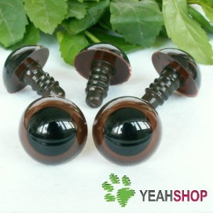 18mm Brown Safety Eyes / Plastic Eyes / Animal Eyes - 5 Pairs